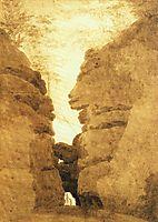 Rock arch in the Uttewalder Grund, friedrich
