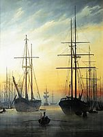 View of a Harbour, 1815-1816, friedrich