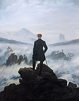 The wanderer above the sea of fog, 1818, friedrich