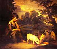 Girl with Pigs, 1782, gainsborough