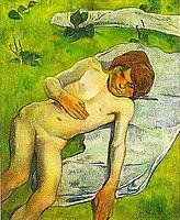 A breton boy, 1889, gauguin