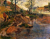 Cove opposite Pont-Aven Harbor, 1888, gauguin