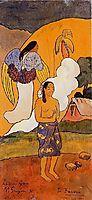The encounter, 1892, gauguin