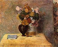 Flowers and Japanese book, 1882, gauguin