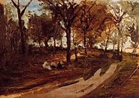 In the forest Saint Cloud , 1873, gauguin