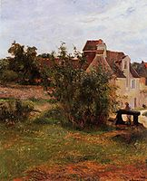 Osny, the gate of Busagny farm, 1884, gauguin