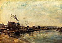 Port de Grenelle, 1875, gauguin