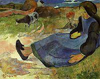 Seated breton girl, gauguin