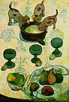 Still Life with Three Puppies, gauguin