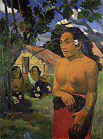 Where are you going?, 1892, gauguin