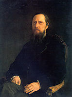 Portrait of the Author Mikhail Saltykov-Shchedrin, ge