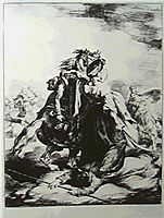 Mameluke defending wounded trumpete, 1818, gericault