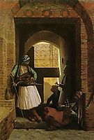Arnauts of Cairo at the Beb en Nasr, 1861, gerome