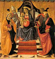 Madonna and Child Enthroned with Saints, ghirlandaio