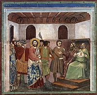 Christ Before Caiaphas, c.1305, giotto