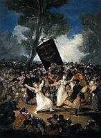 The Burial of the Sardine (Corpus Christi Festival on Ash Wednesday), 1814, goya