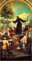St. Bernardino of Siena preaching to Alfonso V of Aragon, 1783, goya