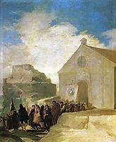 Village Procession, 1787, goya