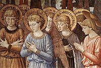 Angels Worshipping (detail), 1461, gozzoli