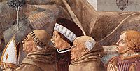 Preaching to the Birds and Blessing Montefalco (detail), 1452, gozzoli