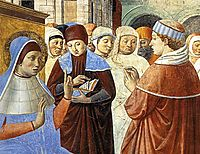 Scenes with St. Ambrose (detail), 1465, gozzoli