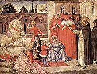 St. Dominic Reuscitates Napoleone Orsini, 1461, gozzoli
