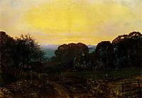 Twilight, The Vegetable Garden, 1869, grimshaw