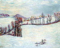 Saint-Sauves under the snow, 1899, guillaumin