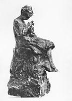 Girl knitting, 1898, gyzis