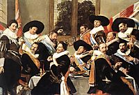 Banquet of the Officers of the St. George Civic Guard Company (detail), c.1627, hals