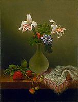 A Vase of Corn Lilies and Heliotrope, 1863, heade