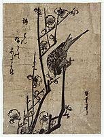 Plum Blossom and Bush Warbler, 1838, hiroshige