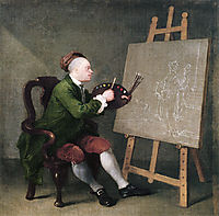 Self portrait, hogarth
