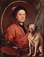 Self portrait, 1745, hogarth