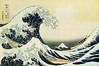 The Great Wave off Kanagawa , 1831, hokusai