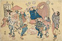 Street scenesnewlypubished, 1825, hokusai
