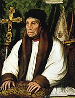 Portrait of William Warham, Archbishop of Canberbury, 1527, holbein