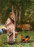 The Milk Maid, 1878, homer