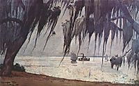 Spanish moss at tampa, 1886, homer