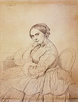 Madame Jean Auguste Dominique Ingres, born Delphine Ramel, ingres