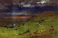 Sunset at Etretat, 1875, inness