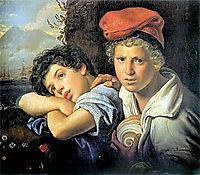 Neapolitan boys-fishermen, 1829, kiprensky