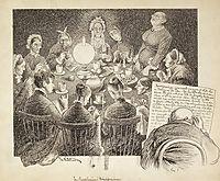 Raadslagning I Kvinneforeningen, kittelsen