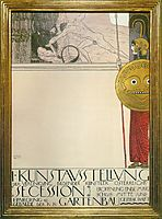 Poster for the First Art Exhibition of the Secession Art Movement, 1898, klimt