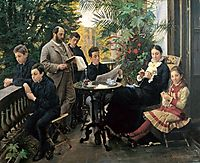 The Hirschsprung family, 1881, kroyer