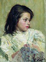 A Girl. Sketch, 1897, kustodiev