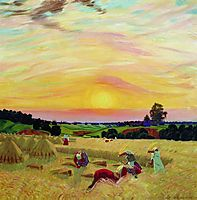 The Harvest , 1914, kustodiev