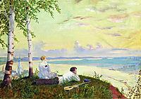 On the Volga  , 1922, kustodiev
