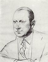 Portrait B.A.Gorin-Goryainov, 1926, kustodiev