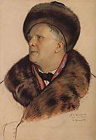 Portrait of F.I. Chaliapin, 1921, kustodiev
